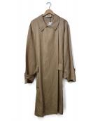 JIL SANDER(ジルサンダー)の古着「リネンビスコーストレンチコート」|ベージュ