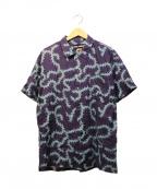 DOUBLE RAINBOUU(ダブルレインボー)の古着「オープンカラーシャツ」|パープル