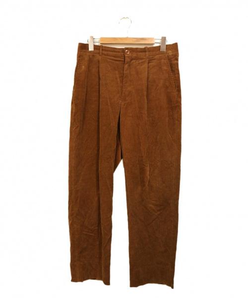 STEVEN ALAN(スティーヴンアラン)STEVEN ALAN (スティーヴンアラン) コーデュロイスーパーバギーパンツ ブラウン サイズ:Lの古着・服飾アイテム