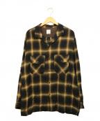 TONE(トーン)の古着「オープンカラーネルシャツ」|ブラウン