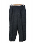 CellarDoor(セラドール)の古着「リネンタックパンツ」|ブラック
