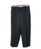 CellarDoor(セラードアー)の古着「リネンタックパンツ」|ブラック
