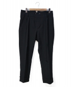 BOGLIOLI(ボリオリ)の古着「シンチバック2タックスラックス」|ブラック