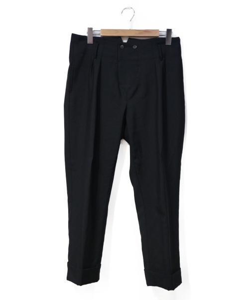 BOGLIOLI(ボリオリ)BOGLIOLI (ボリオリ) シンチバック2タックスラックス ブラック サイズ:48の古着・服飾アイテム