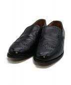 BROOKS BROTHERS×Peal&Co(ブルックス ブラザーズ×ピールアンドコー)の古着「ウィングチップスリッポン」|ブラック