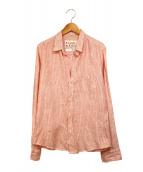 Frank&Eileen(フランクアンドアイリーン)の古着「スキッパーシャツ」|オレンジ