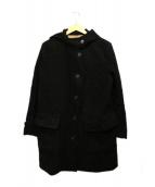 MARGARET HOWELL(マーガレットハウエル)の古着「モールスキンフーデットコート」 ブラック
