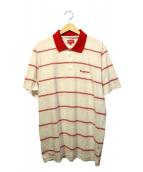 Supreme(シュプリーム)の古着「Striped Polo」|ホワイト×レッド