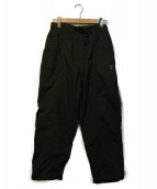 south2 west8(サウスツーウエストエイト)の古着「Belted Center Seam Pant - Wax 」|カーキ