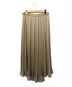 COMME CA(コムサ)の古着「シルキージョーゼットスカート」|ベージュ