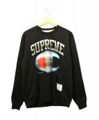 Supreme × Champion(シュプリーム × チャンピオン)の古着「Chrome Crewneck」|ブラック