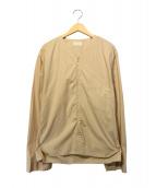 ()の古着「Vネックシャツ」|ベージュ