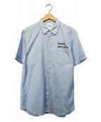 uniform experiment(ユニフォームエクスペリメント)の古着「カットオフレギュラーカラーシャツ」|スカイブルー