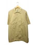 POST OALLS(ポストオーバーオールズ)の古着「ビッグデザインポケットワークシャツ」|ベージュ
