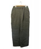Graphpaper(グラフペーパー)の古着「Gauze Easy Pants」|グレー
