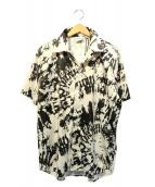 SSS WORLD CORP(トリプルエス ワールドコープ)の古着「HAWAIIANシャツ」 ホワイト×ブラック