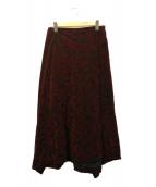 COMME des GARCONS(コムデギャルソン)の古着「フロッキーラップスカート」|レッド