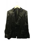 Ys(ワイズ)の古着「サテンジャケット」|ブラック