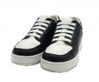 3.1 phillip lim(スリーワン・フィリップ・リム)の古着「Low Top Leather Sneakers」|ブラック×ホワイト