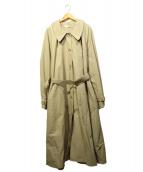 AUNT MARIES(アントマリーズ)の古着「ボリュームステンカラーコート」|ベージュ