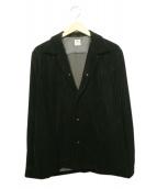 SASQUATCHfabrix.(ザスクワッチファブリックス)の古着「ベロアジャケット」|ブラック