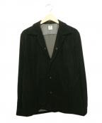 SASQUATCHfabrix.(サスクワッチファブリックス)の古着「ベロアジャケット」|ブラック