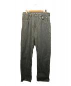 Levis Lefty Jeans by Takahiro Kuraishi(リーバイスレフティージーンズ タカヒロクライシ)の古着「305リジットデニムパンツ」 グレー