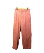 Adam et Rope(アダムエロペ)の古着「センタープレスワイドパンツ」|ピンク