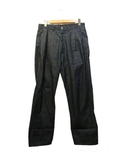 ABAHOUSE(アバハウス)ABAHOUSE (アバハウス) ワイドデニムパンツ ネイビー サイズ:48の古着・服飾アイテム