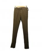 INCOTEX(インコテックス)の古着「センタープレスパンツ」|ブラウン