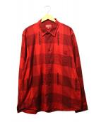 Supreme(シュプリーム)の古着「Logo Plaid Shirt」 レッド