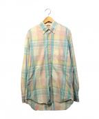 GITMAN BROS(ギットマンブラザーズ)の古着「チェックシャツ」 ピンク