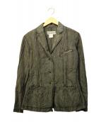 ISSEY MIYAKE(イッセイミヤケ)の古着「コットンナイロンジャケット」|ブラック