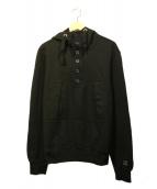 C.P COMPANY(シーピーカンパニ)の古着「ハーフジップパーカー」|ブラック