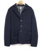 Bark(バーク)の古着「中綿ウールジャケット」|ネイビー