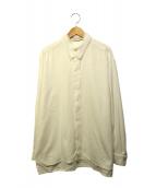 ISSEY MIYAKE(イッセイミヤケ)の古着「プリーツカラーブラウス」|ホワイト