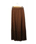 SLOBE IENA(イエナスローブ)の古着「ジャガードフレアースカート」|ブラウン
