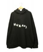 MM6(エムエムシックス)の古着「HUMANS LOGO BACK HOODIE」|ブラック