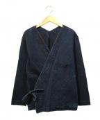 ゴーシュ(ゴーシュ)の古着「バーズアイデニムカシュクールジャケット」|インディゴ