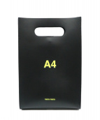 nana-nana(ナナナナ)の古着「A4レザーショルダーバッグ」|ブラック