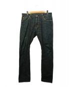 Stevenson Overall Co.(スティーブンソンオーバーオール)の古着「リジットデニムパンツ」|インディゴ
