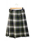 ONEIL OF DUBLIN(オニール オブ ダブリン)の古着「ラップスカート」|グリーン