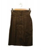 MACPHEE(マカフィー)の古着「ハイウエストIラインスカート」|ブラウン