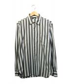 agnes b homme(アニエスベーオム)の古着「ストライプシャツ」|スカイブルー×グレー