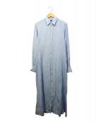 POLO RALPH LAUREN(ポロラルフローレン)の古着「リネンシャツワンピース」|スカイブルー