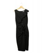 MaxMara(マックスマーラ)の古着「フリルデザインワンピース」|ブラック