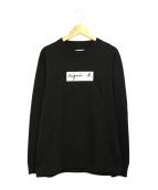 agnes b(アニエスベ)の古着「ロゴTシャツ」|ブラック