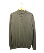 SUNSPEL(サンスペル)の古着「ニットポロシャツ」|グレー