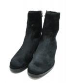 BUTTERO(ブッテロ)の古着「ハラコサイドジップブーツ」 ブラック