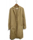 GALERIE VIE(ギャルリーヴィー)の古着「コットンタイプライターコート」|ベージュ